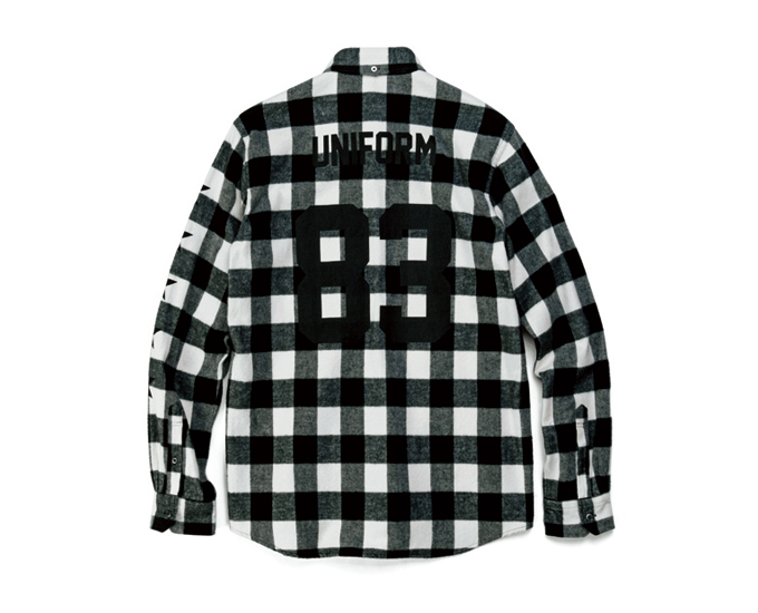 NUMBERING STAR FLANNEL BLOCK CHECK B.D SHIRT
