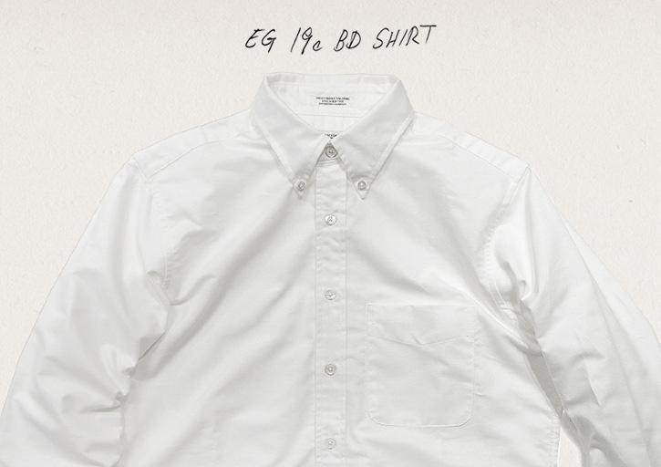 19c ボタンダウンシャツ
