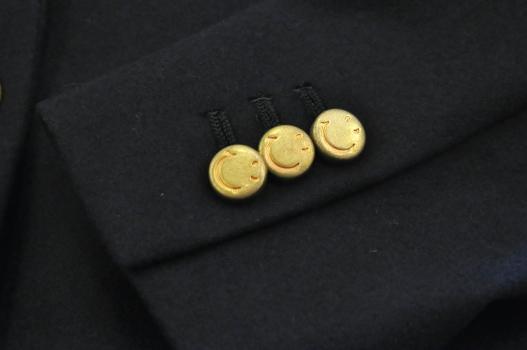 ジャケット ボタン スマイルマーク